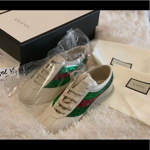 Authentic Gucci Falacer Sneakers with Web